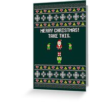 Dangerous Christmas Sweater + Card Greeting Card