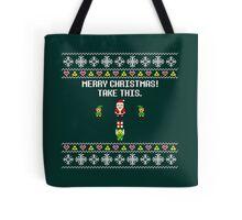 Dangerous Christmas Sweater + Card Tote Bag