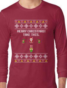 Dangerous Christmas Sweater + Card Long Sleeve T-Shirt