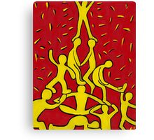 Yellow People Canvas Print