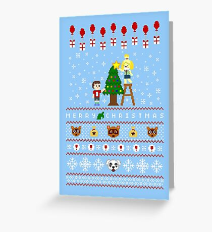 Animal Town Christmas Sweater + Card Greeting Card