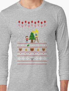 Animal Town Christmas Sweater + Card Long Sleeve T-Shirt