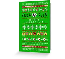 Animal Town Christmas Sweater + Card 2 Greeting Card