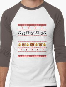 Animal Town Christmas Sweater + Card 2 Men's Baseball ¾ T-Shirt