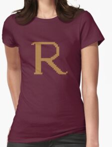 R's Christmas Sweater Womens Fitted T-Shirt