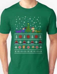 80s Christmas Sweater + Card T-Shirt