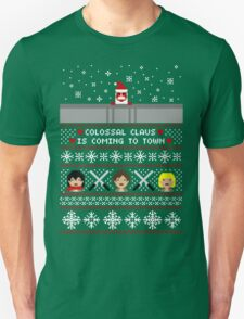 Colossal Claus Sweater + Card  Unisex T-Shirt