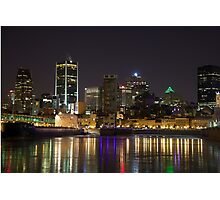 Montreal Old Port at night Photographic Print