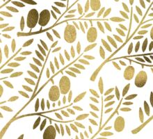 Gold Olive Branches Sticker