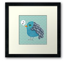 Slightly Depressed Blue Bird Singin' the Blues Framed Print