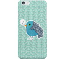 Slightly Depressed Blue Bird Singin' the Blues iPhone Case/Skin