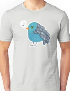 Slightly Depressed Blue Bird Singin' the Blues Unisex T-Shirt