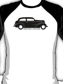 Black 1937 Chevy Master Deluxe silhouette T-Shirt