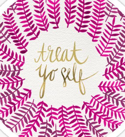 Treat Yo Self – Pink Sticker