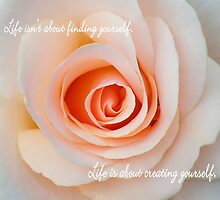 Rose Encouragement Quote  by Marcia  Connell-Smith