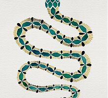 Emerald & Gold Serpent by Cat Coquillette