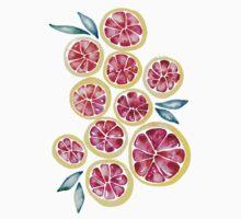 Sliced Grapefruits Watercolor T-Shirt