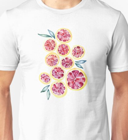 Sliced Grapefruits Watercolor Unisex T-Shirt