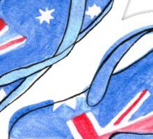 Aussie Feet Sticker