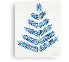Blue Leaflets Canvas Print