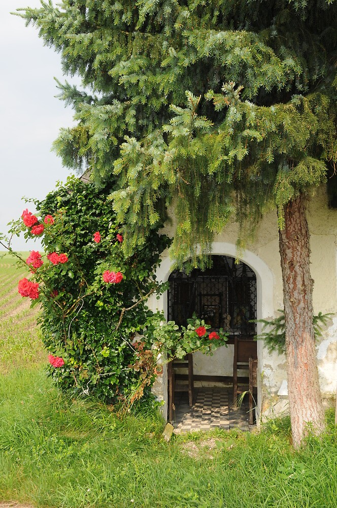 The Chapel and the Tree and the Roses by Bertspix1