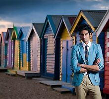 Praveen on Brighton Beach  by Stephen Colquitt