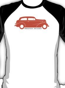 Orange 1937 Chevy Master Deluxe silhouette T-Shirt