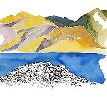 Afternoon at Lake Chelan by Simone  Stivi