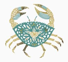 Crab – Turquoise & Gold T-Shirt