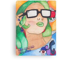 Talk Nerdy Canvas Print