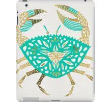 Crab – Turquoise & Gold iPad Case/Skin