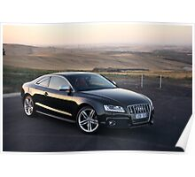 Audi S5 Coupe Sunset Poster
