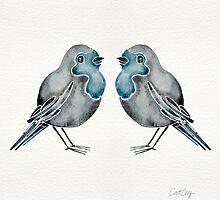 Little Blue Birds by Cat Coquillette