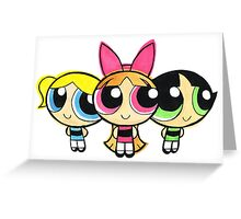 PowerPuff Greeting Card