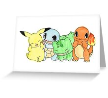 Hand Painted Pokemon Greeting Card