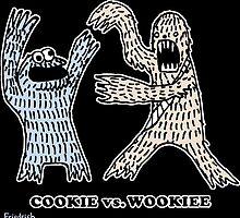 Cookie Vs. Wookiee by paulfriedrich