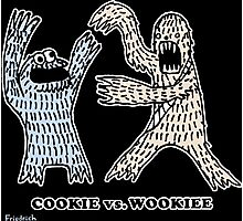 Cookie Vs. Wookiee Photographic Print