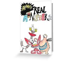 Real Monsters! Greeting Card