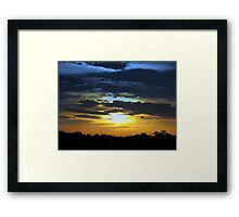 Drive by Sunset Framed Print