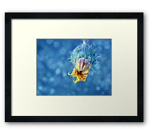 ©NS Smooth Yellow IA. Framed Print