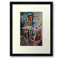 The Little Girl who Carried the weight of the world Framed Print