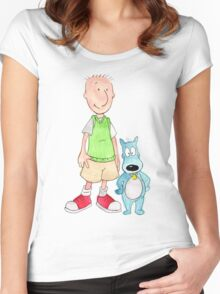 Doug and Porkchop Women's Fitted Scoop T-Shirt