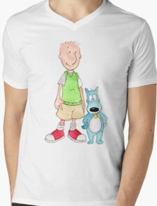 Doug and Porkchop Mens V-Neck T-Shirt