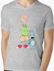 Doug and Porkchop Mens V-Neck T-Shirt