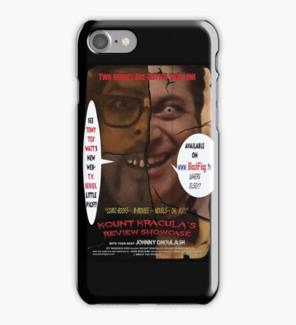 Kount Kracula's Review Showcase -TV Show Promo Poster  iPhone Case/Skin