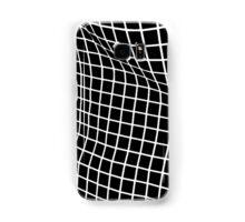 Black Wavy Grid Case Samsung Galaxy Case/Skin