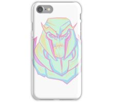Angry pastel robot iPhone Case/Skin