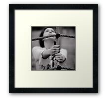 happy playground Framed Print