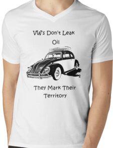 VW's don't leak oil they mark their territory  Mens V-Neck T-Shirt