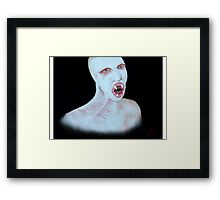 The Flukeman from The X Files  Framed Print